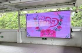虎童科技地铁大屏媒体520与爱同行