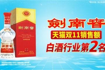 双十一酒水品牌销量喜人,剑南春多平台获佳绩